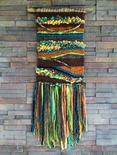 Weaving wall hanging Source by helenhalma Weaving Textiles, Weaving Art, Tapestry Weaving, Loom Weaving, Wall Tapestry, Hand Weaving, Weaving Wall Hanging, Wall Hangings, Loom Craft
