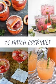 The perfect drinks for whenever! Here are some of our fave big batch libations and pitcher cocktails to help you find your own signature drink. Vodka Lemonade, Lemonade Cocktail, Vodka Cocktails, Spring Cocktails, Summer Drinks, Fun Drinks, Beverages, Blood Orange Cocktail, Summer Barbecue