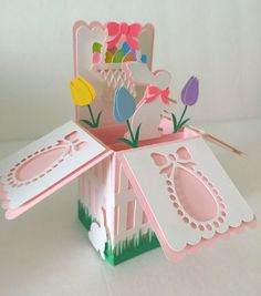 XXX   Easter Card In A Box by MyCasualWhimsy on Etsy