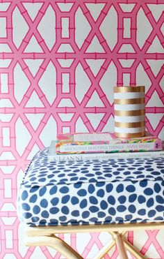 Pink And Blue Chinoiserie Chic Bloglovin Bamboo Wallpaper Decorative