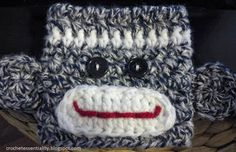 Crochet Monkey Cup Cozy FREE Pattern Want to try these for my Starbucks coffee
