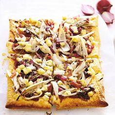25 februari - witlof in de bonus - Recept - Witloftaart met rode ui en brie - Allerhande