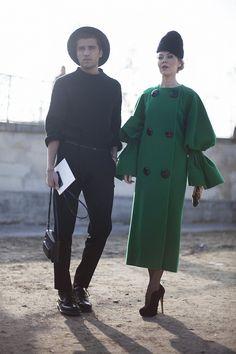 Fotos de street style en Paris Fashion Week: Ulyana Sergeenko