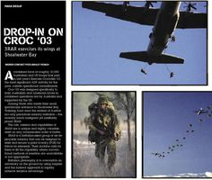 3RAR jumps into Shoalwater Bay. From CONTACT issue 1, March 2004