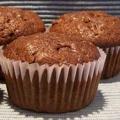 Chocolate Zucchini Muffins Recipe Breads with eggs, white sugar, vegetable oil, unsweetened cocoa powder, vanilla extract, zucchini, all-purpose flour, baking soda, baking powder, salt, ground cinnamon, ground nutmeg, ground cloves, ground cardamom
