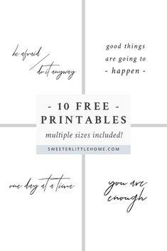 Free printable: 10 f