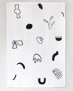 YF Tea Towel  An original design hand printed and sewn on 100% linen which will get softer and more absorbent with each wash  by youngfrankk