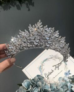 She is a Queen-Her soul is Royalty Bridal Crown, Bridal Tiara, Bridal Headpieces, Royal Jewelry, Cute Jewelry, Hair Jewelry, Quinceanera Tiaras, Crown Aesthetic, Princess Aesthetic