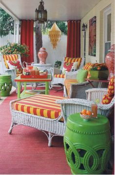 Colorful back porch...love it!
