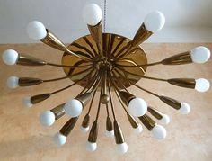 XXL 21 Lights Italian Modernist Ceiling Lamp 50´S Stilnovo Mid Century Design | eBay