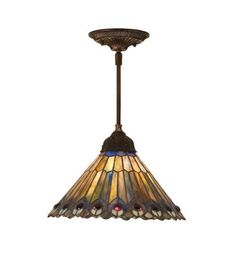 View the Meyda Tiffany 48926 Stained Glass / Tiffany Down Lighting Pendant from the Jeweled Peacock Collection at LightingDirect.com.