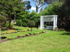Newly renovated garden ceremony area at Valley View Restaurant in the swan valley,  perth.