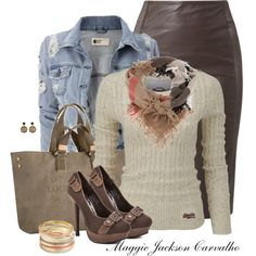 LEATHER & A SWEATER, created by maggie-jackson-carvalho on Polyvore