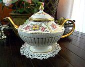 Tea Pot - Rare Alladin Vintage Arthur Wood and Son Teapot 8014