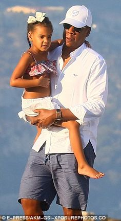 Doting Dad Jay Z  with daughter Blue Ivy