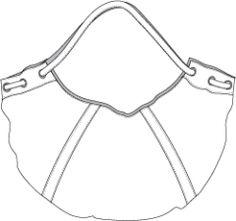 crescent shaped hobo handbag with tubular straps - only sketch for inspiration