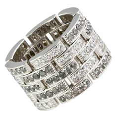 Cartier Diamond Maillon Panthere 5 row white gold band...love