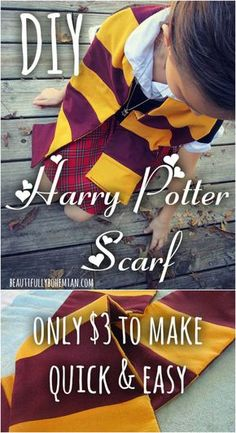 DIY Harry Potter Scarf!! More