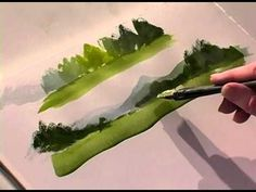 DIY Face Masks : How to Create Depth with Greens in Landscapes with Ron Ranson Watercolor Video, Watercolour Tutorials, Watercolor Landscape, Watercolour Painting, Landscape Art, Landscape Paintings, Landscapes, Watercolours, Acrylic Painting Techniques
