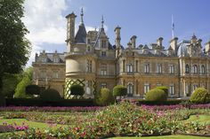 Waddesdon Manor, a Renaissance-style château in Buckinghamshire, England. Photography of the exterior of this National Trust property is freely permitted.