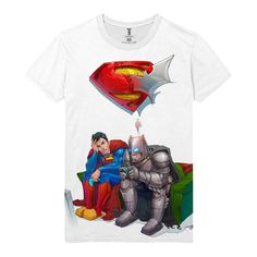 The unique T-shirt Batman Vs Superman DC Comics Game Console Arts  -  T-shirt Merch Videogame Justice Apparels Buy You can get longsleeve or t-shirt, even tanks for boys and girls. Just picks the size of your favourite apparel and put the item to a basket.