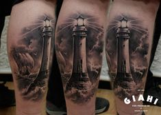 Lighthouse tattoo - beacon of light in a world of darkness