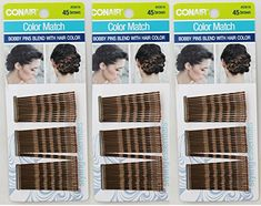 Conair Color Match Bobby Pins Blends With Hair Color Brown Pack of 3 55616 * Be sure to check out this awesome product. (This is an affiliate link) Hair Pins, Bobby Pins, Count, Hair Color, Brown, Link, Awesome, Check, Image