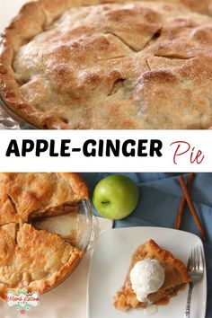 This homemade apple-ginger recipe is a delicious dessert that your family will love. A blissful balance of tart and sweet, but with just the right amount of sugar. This pie has a flaky Mexican Dessert Recipes, Dessert Dishes, Tasty Dishes, Dessert Ideas, Puff Pastry Recipes, Tart Recipes, Easy Desserts, Delicious Desserts, Yummy Food