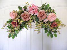Antique Pink Rose Arch Floral Design Swag by tlgsilkfloral on Etsy, $59.95