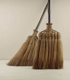 Two lengths of shuro broom