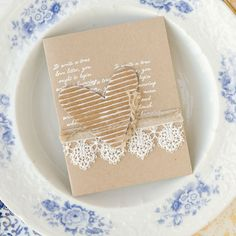 Kraft and shabby-chic romance pair perfectly together for this card collection by Jo West, inside Take Ten.