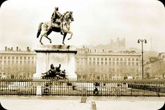 ancienne photo de la Place Bellecour