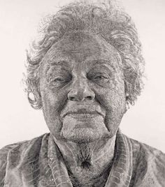 Hyper-Realistic Fingerpaintings -  Chuck Close