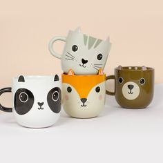 Sip your morning brew one from these Kawaii Animal Mugs, inspired by the irresistibly cute designs in Japanese pop culture. Crafted from quality ceramic, these