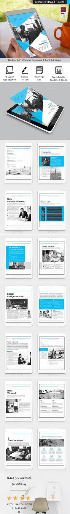 Corporate E-Book & E-Guide Template InDesign INDD