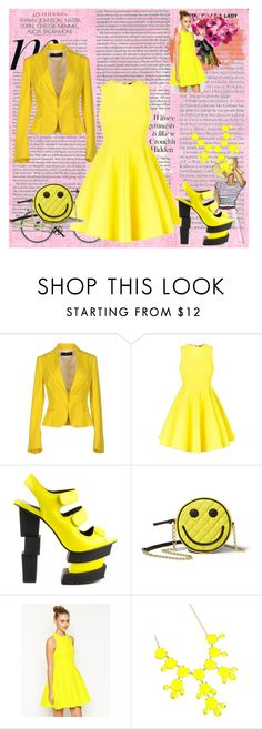 """""""yellow"""" by anonnnnnn-cxliv on Polyvore featuring Dsquared2, AQ/AQ, Privileged, ASOS, Erica Lyons and Hermès"""