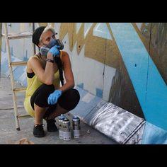 .@Zina Harrington Artist | Photo by Emerson Soriano (Flickr SeveredFrequencies). False & Zina collab | Webstagram zina Artist #streetart Graffiti Girl, Graffiti Artists, Street Artists, Emerson, Urban Art, Girl Crushes, Novels, Amp, Female