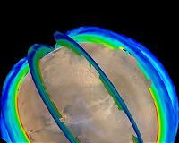 Pasadena CA (JPL) Jun 10, 2016 After decades of research to discern seasonal patterns in Martian dust storms from images showing the dust, but the clearest pattern appears to be captured by measuring the temperature of the Red Planet's atmosphere. For six recent Martian years, temperature records from NASA Mars orbiters reveal a pattern of three t…