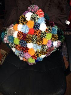 Pom pom cushion for my lovely TamTamCharles
