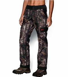 2ba26d4d5dd40 WOMENS UNDER ARMOUR UA AYTON STORM WATERPROOF FLEECE CAMO CARGO HUNTING  PANTS M #Underarmour Hunting