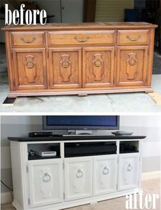 - TV Unit Models & Ideas - Dresser Makeover {Living Room Update} Turn an old dresser into an entertainment center! Furniture Projects, Furniture Making, Home Projects, Home Furniture, Furniture Design, Bedroom Furniture, Furniture Online, Furniture Stores, Rustic Furniture