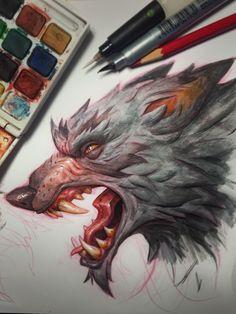 Wolf, Tyson Murphy on ArtStation at https://www.artstation.com/artwork/wolf-41138a4c-261a-494e-84a4-d3edae8ca34c
