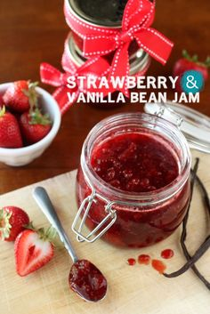 Strawberry Vanilla Bean Jam by @Annalise (Completely Delicious)