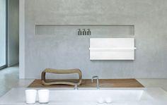 Hot water towel radiator / horizontal / metal / wall-mounted ICE BAGNO  CO.GE.FIN