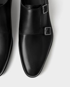 Image 3 of LEATHER DOUBLE MONK STRAP SHOES from Zara