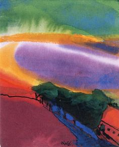 Landscape (Red - Yellow - Green) ~ Emil Nolde