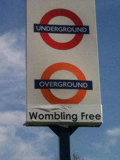 Underground, Overground, Wombling Free: Kensal Green sign