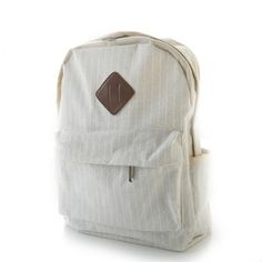 Wow! Fresh Simple Beige Stripes Trunk Canvas Backpack Rucksack School Bag only $35.99 from ByGoods.com! I like it so much!!
