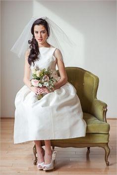 City Hall Wedding Inspiration: Urban Vintage Inspirational Shoot - Wedding Chicks - Loverly #wedding #dress