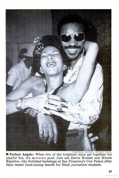 Vintage shot of MINNIE RIPPERTON & STEVIE WONDER!! ][><][^^][><][^^][][><][^^][><][^^][][><][^^][><][^^][][><][^^][><][^^][